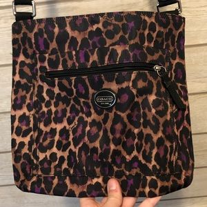 Coach Cheetah Crossbody Purse 💜🐆
